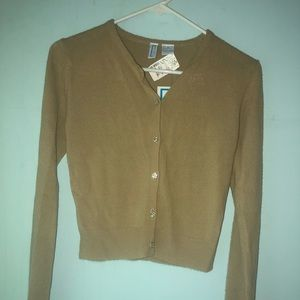 Brown button-down cardigan medium new with tags